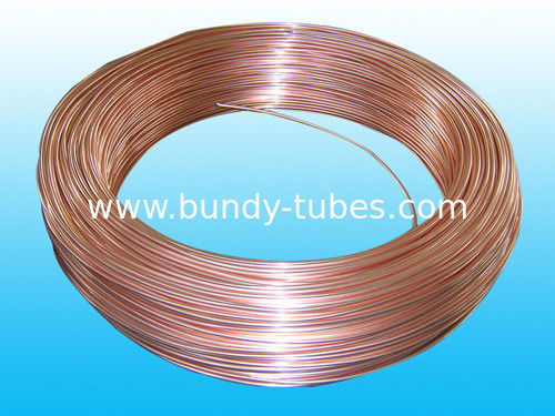 Good Plasticity Air Conditioning Copper Tubing / Condenser Tube 3.6* 0.5 mm