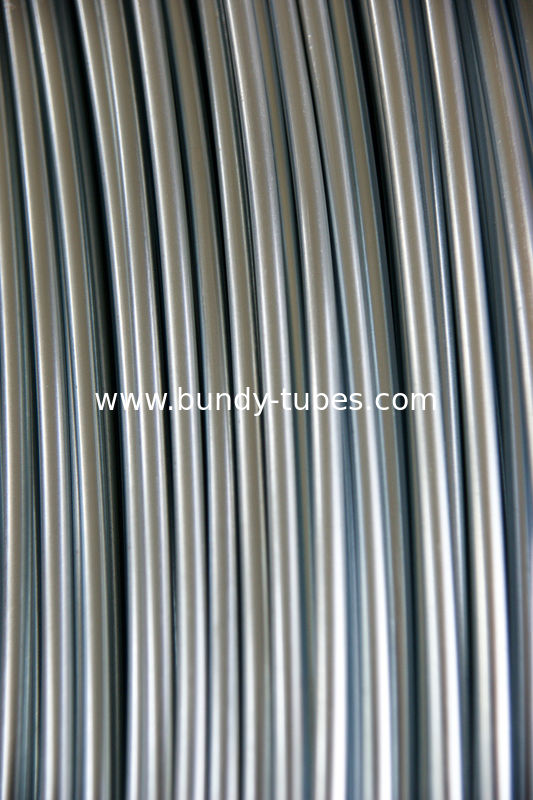 No Coated Steel Bundy Tube / Condenser Tube 8 X 0.7mm for refrigeration