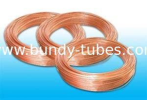 Single Wall Cold Drawn Welded Tubes 4.2 * 0.6 mm , Copper Coated